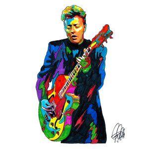 Brian Setzer Stray Cats Rockabilly Music Poster